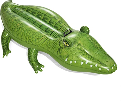 popular Bestway high quality 41010 Inflatable Crocodile Pool Float Ride-On, discount Green 168 x 89 cm online