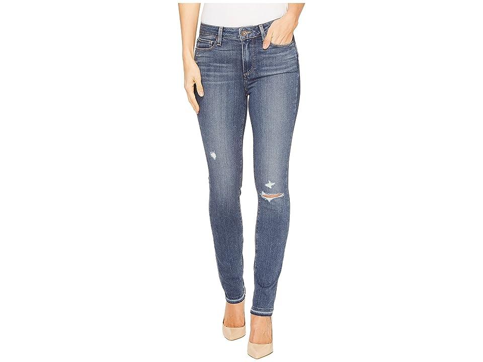 Paige Hoxton Ankle Peg w/ Folded Undone Hem in Lexi Destructed (Lexi Destructed) Women's Jeans, Blue