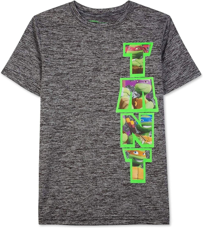 Nickelodeon Boys TMNT Vert Heathered Graphic T-Shirt, Black, 2T