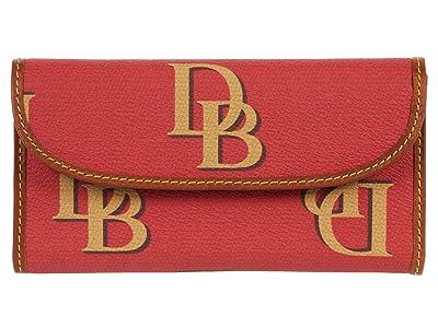Dooney & Bourke Monogram Continental Clutch (Red) Clutch Handbags