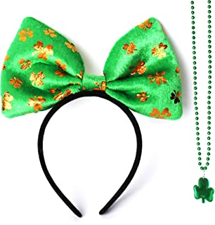 Irish Green Headband St. Patrick's Day Festive Headbands with necklace for Women