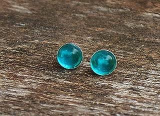 Recycled Vintage Mason Jar Sterling Silver Post Earrings
