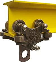 Jervis Webb Beam Trolley With Side Guide Rollers. Industrial Grade 500 Pound Capacity. Conveyor Trolley For I-Beams.