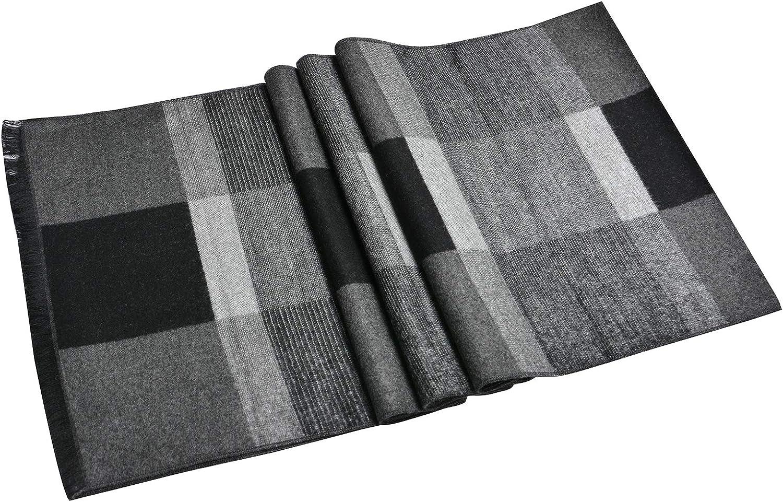 suave Bufanda estola de un solo color 70/x 185/cm para oto/ño e invierno cl/ásica con borlas en alegres colores