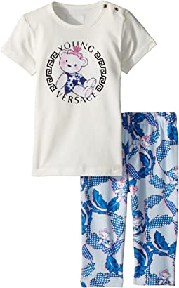 Versace Kids Two-Piece Set with Bear Logo Graphic (Infant)