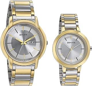 Sonata Pairs Analog Silver Dial unisex Watch 770318141BM01/NN770318141BM01