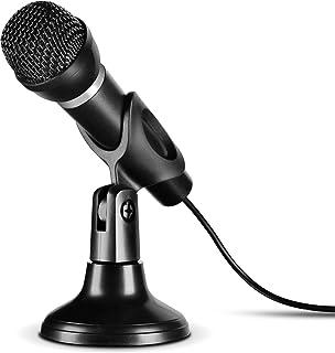Speedlink CAPO USB Desk & Hand Microphone   Tisch  und Handmikrofon mit USB Anschluss für Büro, Gaming, Podcasts   integrierter Soundchip, schwarz