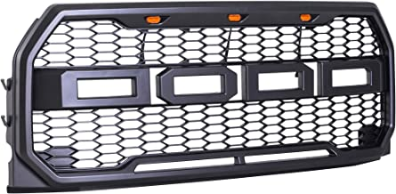 Soozier Raptor Style Conversion Grill for F150 2015-2017 with Amber LED Lights