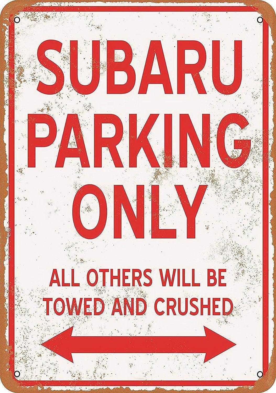 Kexle 8 x 12 Metal Sign - Subaru Parking ONLY - Vintage Look