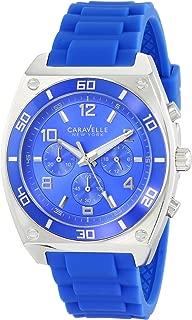 Caravelle New York Men's 45A115 Analog Display Japanese Quartz Blue Watch