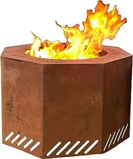 Titan Corten Steel Near Smokeless Wood Burning Backyard Fire Pit 16 in x 24