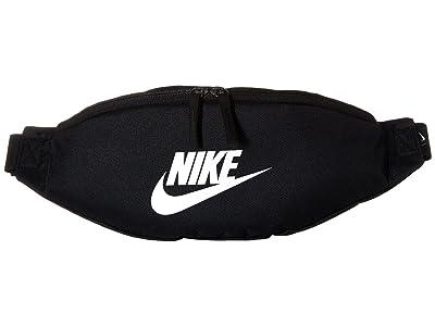 Nike Heritage Hip Pack (Black/Black/White) Bags