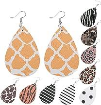 10 Pairs Leather Earrings Teardrop Leather Earrings Petal Drop Leaf Dangle Earrings for Girls Women