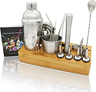 Mixology Bartender Kit,20-Piece Cocktail Shaker Set With...