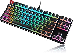 Glorious Aura Keycaps for Mechanical Keyboards - PBT, Pudding, Double Shot, Black, Standard Layout | 104 Key, TKL, Compact Compatible (Aura (Black))