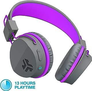 JLab Audio JBuddies Studio Bluetooth Over-Ear Kids Headphones   13 Hour Battery Life   Studio Volume Safe   Volume Limiter   Folding   Adjustable   Noise Isolation   with Mic   Graphite/Purple