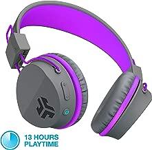 JLab Audio JBuddies Studio Bluetooth Over-Ear Kids Headphones | 13 Hour Battery Life | Studio Volume Safe | Volume Limiter | Folding | Adjustable | Noise Isolation | with Mic | Graphite/Purple