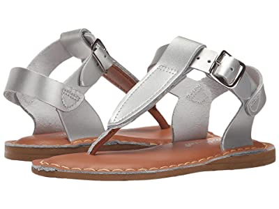 Salt Water Sandal by Hoy Shoes Sun-San T-Thongs (Toddler/Little Kid) (Silver) Girls Shoes