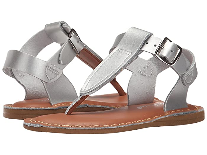 Salt Water Sandal by Hoy Shoes  Sun-San - T-Thongs (Toddler/Little Kid) (Silver) Girls Shoes