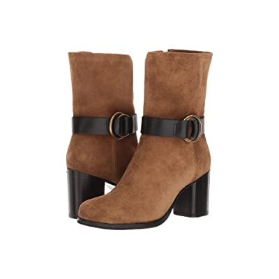 Frye Addie Harness Mid (Chestnut Soft Oiled Suede) Women