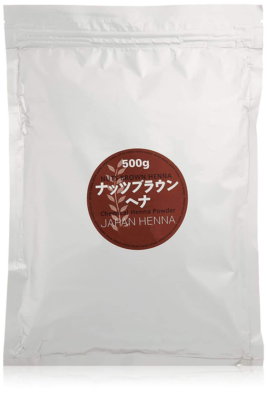 日没気配りのある天気ジャパンヘナ ナッツブラウン 500g