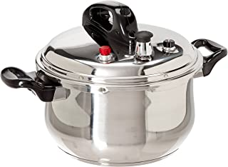 Stainless Steel Pressure Cooker, Silver, 5.28 Quarts