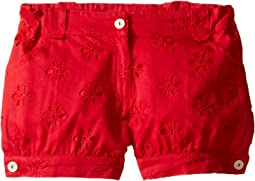 Oscar de la Renta Childrenswear Cotton Eyelet Cute Shorts (Toddler/Little Kids/Big Kids)