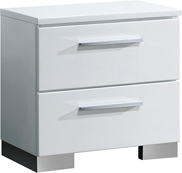 Furniture Of America CM7201N Clementine Smooth White Nightstands 22 6 H