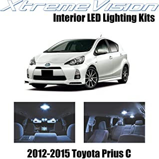 XtremeVision Interior LED for Toyota Prius C 2012-2015 (5 Pieces) Cool White Interior LED Kit + Installation Tool
