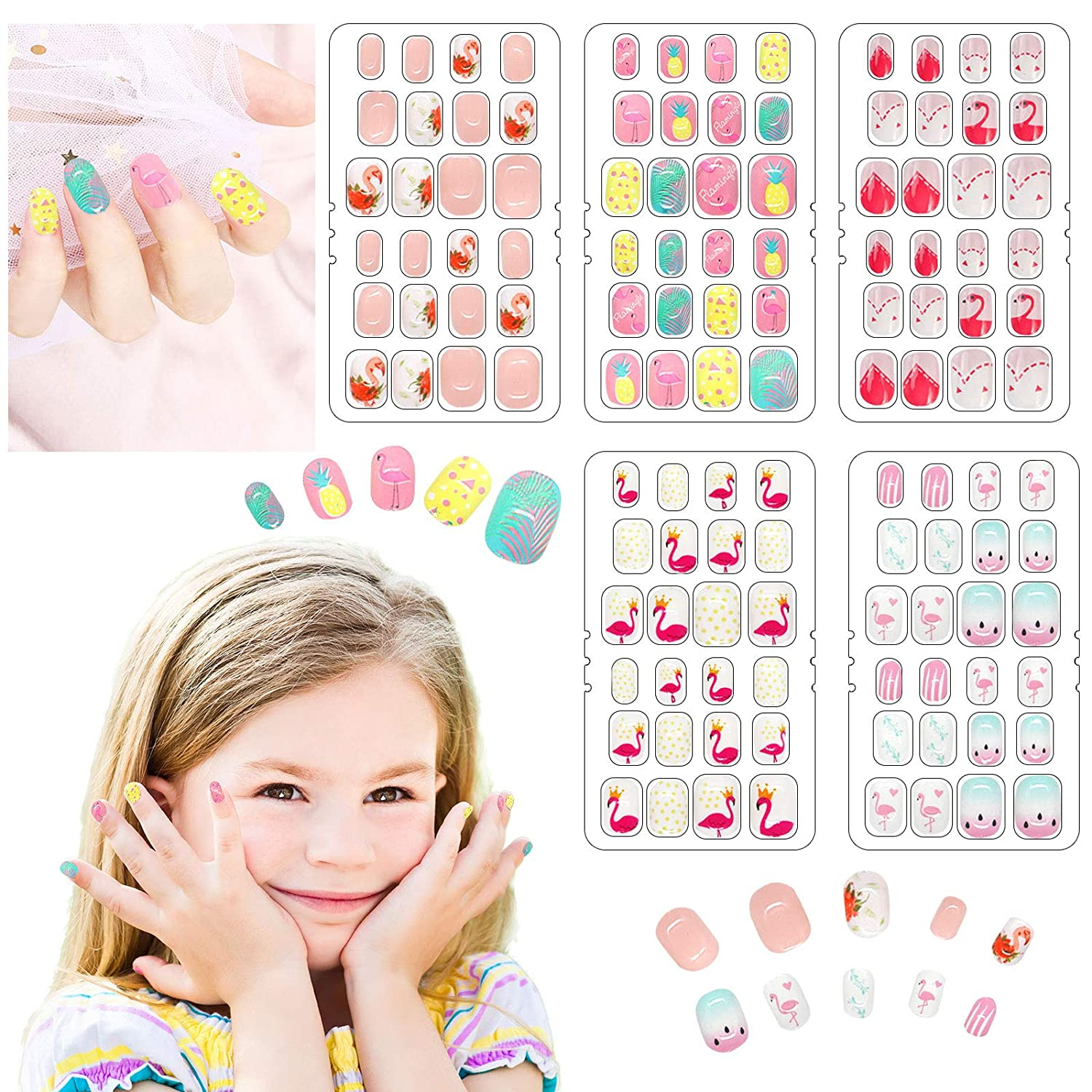 120 Pieces Press on Nails Fake Pre- Acrylic Short free shipping Sale price