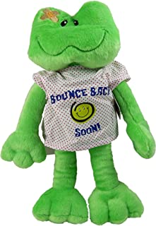 """Kelli's Shop 15"""" Adorable Plush Bounce Back Soon Frog with Hospital Gown/Cheer UP Gift/Hope You Feel Better/After Surgery Gift/Injury/HOSPITALIZATION/Brighten Someone's Day! Sickness/Illness 810203"""