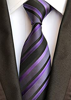 Men's Classic Stripe Tie Silk Necktie Formal Party College Daily Jacquard Woven Business Neckties