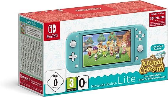 Amazon.nl-Nintendo Switch Lite Console + Animal Crossing: New Horizons - Turkoois (Nintendo Switch)-aanbieding