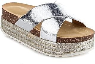 Women's Espadrille Platform Slide Sandals Slip On Flat Summer Beach Casual Shoes GG10