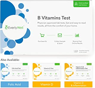 EverlyWell - at-Home B Vitamins Tests - Test Your Levels for Three Essential B Vitamins, Which are Determined by Your Diet (Not Available in MD,NY, NJ, RI)