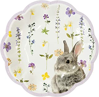 Talking Tables Easter Bunny Paper Plates, Pack of 12, Mixed Colours