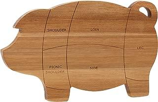 Paula Deen 46594 Pantryware Wooden Pig Cutting Board / Wooden Pig Serving Board - 8.5 Inch x 14 Inch, Brown