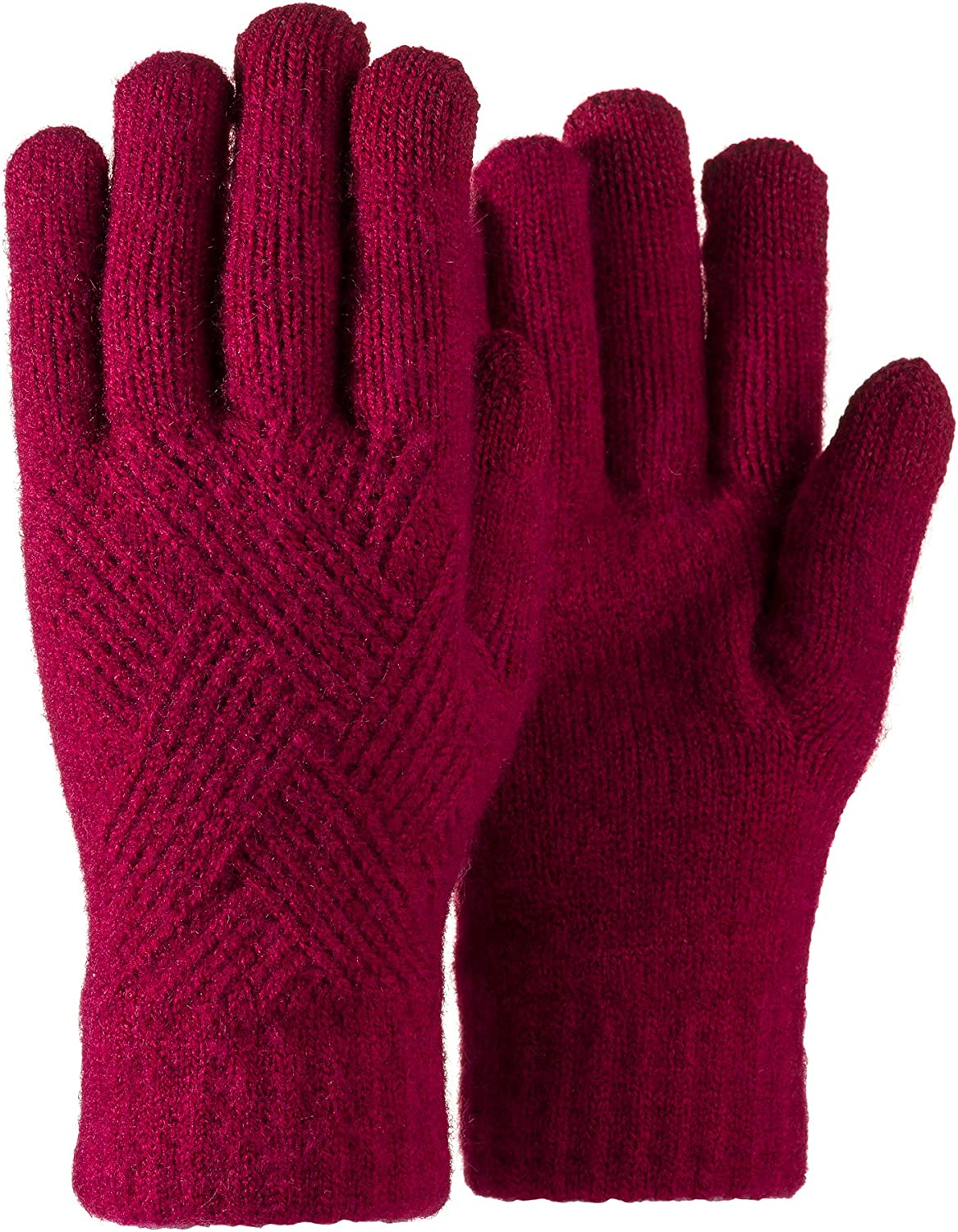 Women Gloves Winter Knit Touchscreen Thermal Soft Lined Texting Elastic Glove