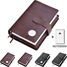 Double AA Big Book Cover & 12 Steps & 12 Traditions   Medallion Holder   by Galileo   Perfect Gift   Alcoholics Anonymous   + Extra Notebook (Plain/Coin Pocket/Brown)