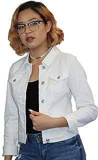 Wax Women's Basic Button Down Denim Jean Jacket