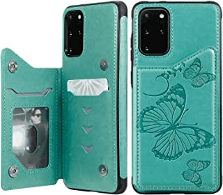 Flip Case for Samsung Galaxy S9 plus S9+, green PU Leather Wallet Cover (Compatible with Samsung Galaxy S9 plus S9+)