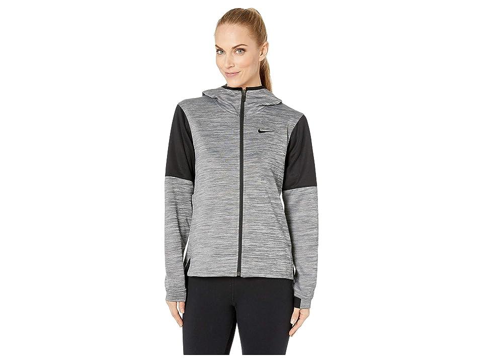 Nike Spotlight Full Zip Hoodie (Grey Heather/Black/Black) Women