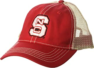Ouray Sportswear NCAA North Carolina State Wolfpack Men's Epic Washed Twill Cap, Red, Adjustable