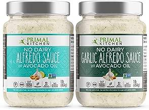 Primal Kitchen No Dairy Alfredo Sauce 2 Pack - 1 Traditional & 1 Garlic