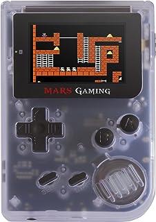 Mars Gaming MRBW Console con 151 giochi, MicroSD, emulatore GBA, Sega, NES, FC/SFC, Bianco