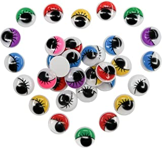 TOAOB 210pcs Multicoloured Wiggle Googly Eyes With Eyelash and Self-adhesive 15mm for DIY Scrapbooking Crafts Toys Accessories