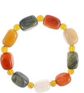 LPAU Natural Healing Crystal Chakra Stones Bracelet for Women Men, Meditation Crystal and Gemstones, Gobi Desert Agate Sto...