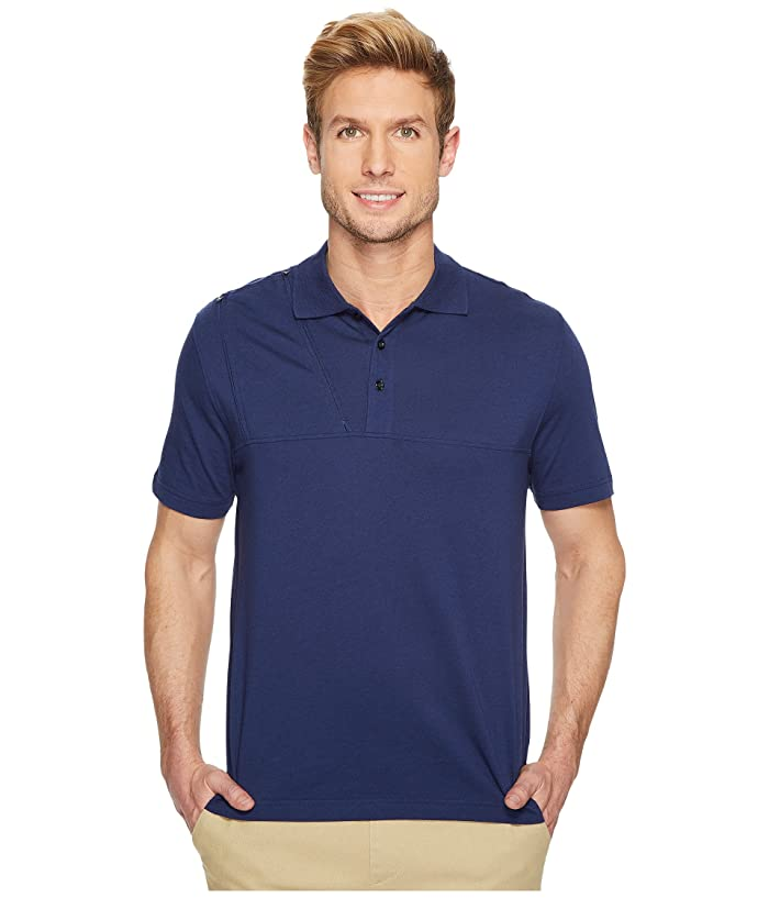 Care+Wear Right Side Chest Access Polo Shirt (Navy Blue) Men