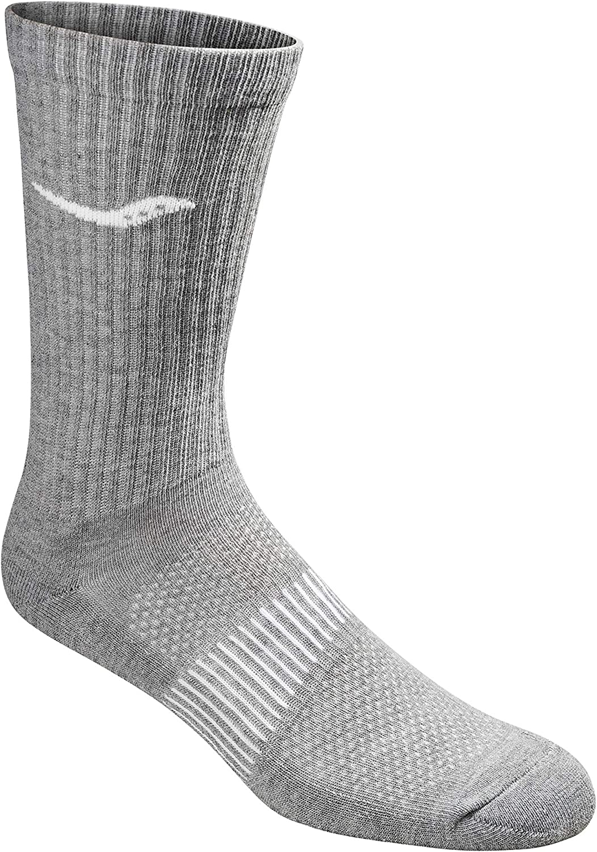 Saucony mens Run Dry Athletics Crew Socks Running Socks