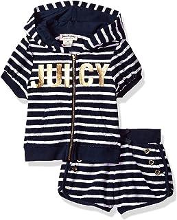 Juicy Couture - Conjunto de 2 Pantalones Cortos con Capucha para niña